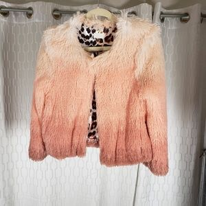 MOTHER Boxy Shaggy Ombre Cropped Jacket